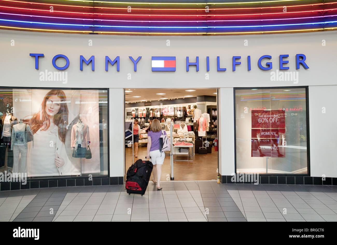 84abfafc A shopper entering the Tommy Hilfiger store, Las Vegas Mall, Las Vegas USA -