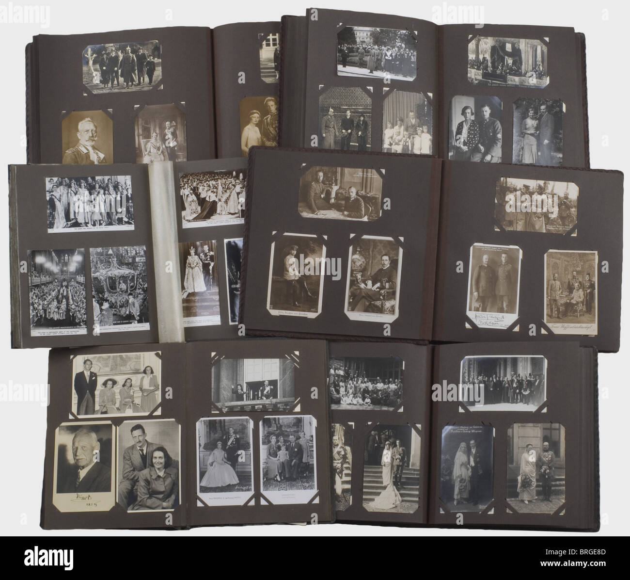 A collection of photographs of the higher aristocracy for the period 1880 - 1970, more than 2000 pieces in nine - Stock Image