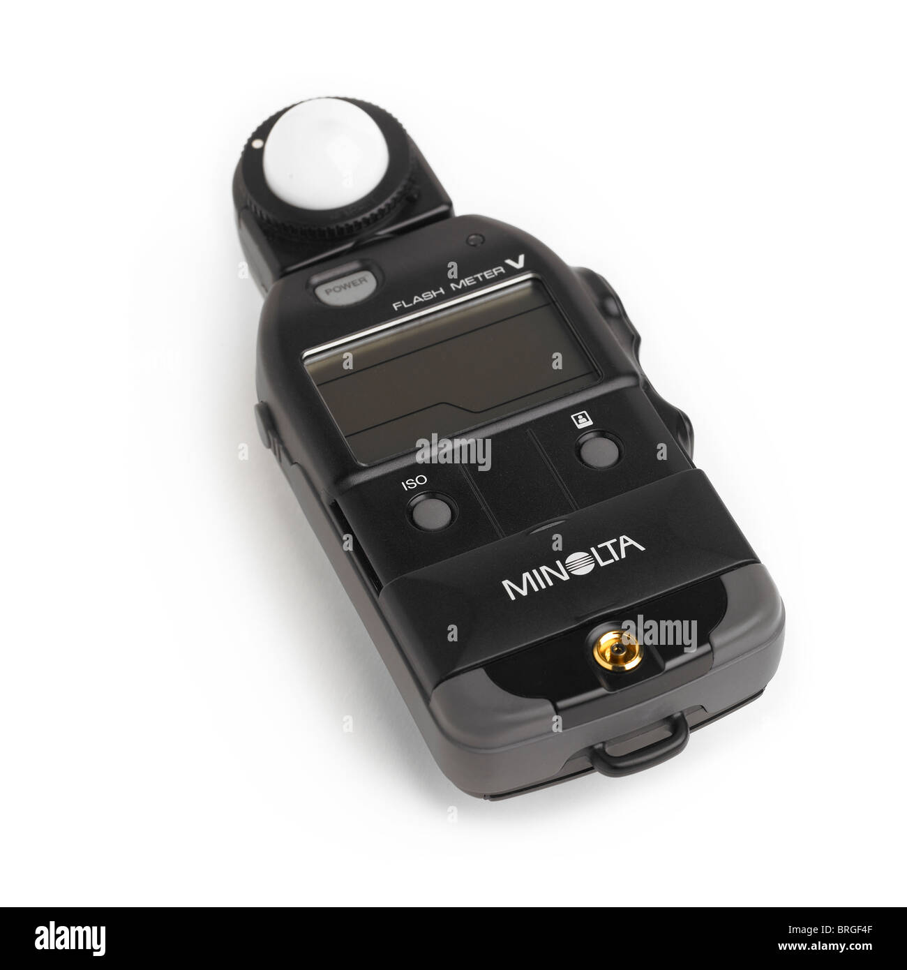 Minolta Flash Meter V on a White Background - Stock Image