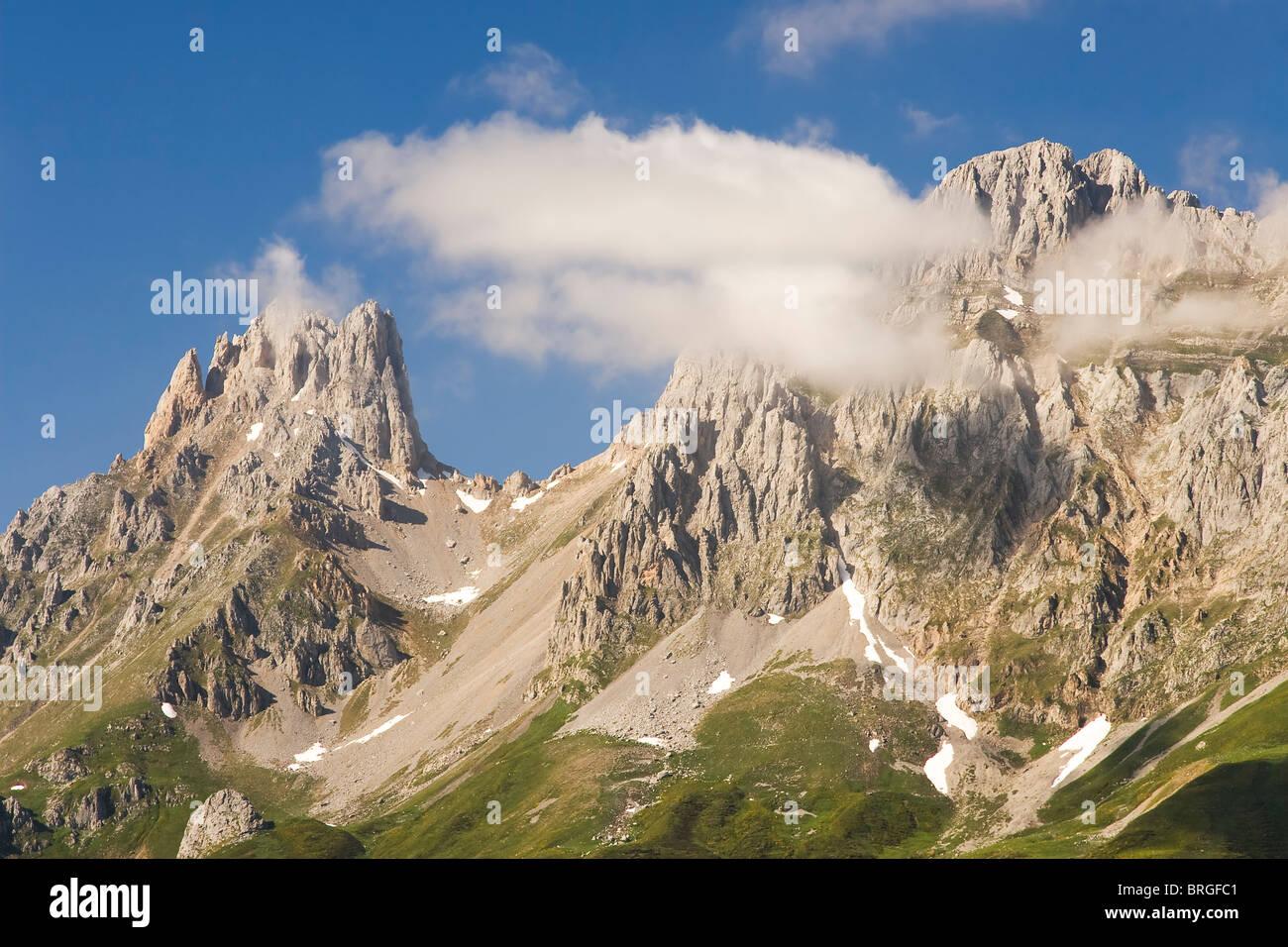Mountain of Picos de Europa, Leon, Spain - Stock Image