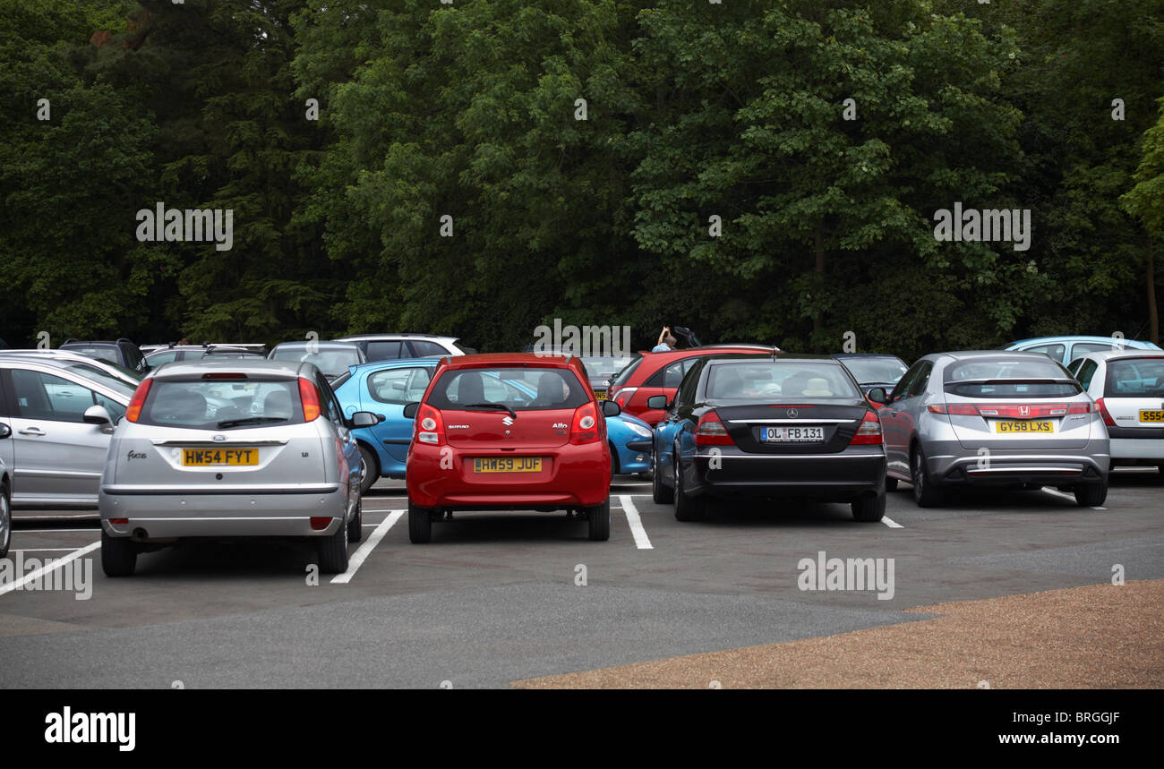 Cars parked in car park of Osbourne House, Isle of Wight - Stock Image