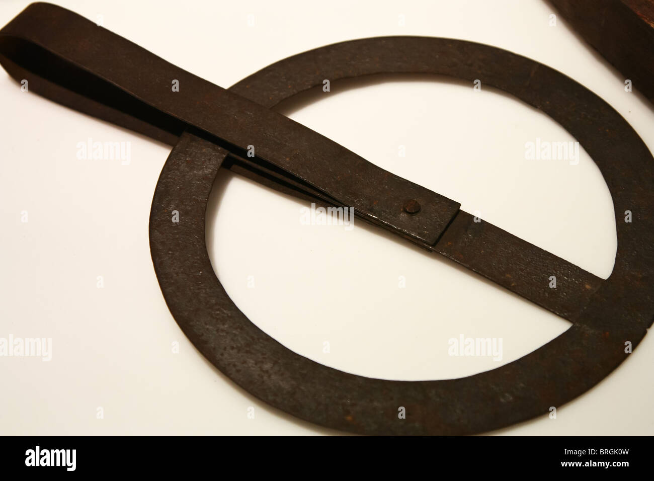 traveller hand forged - Stock Image