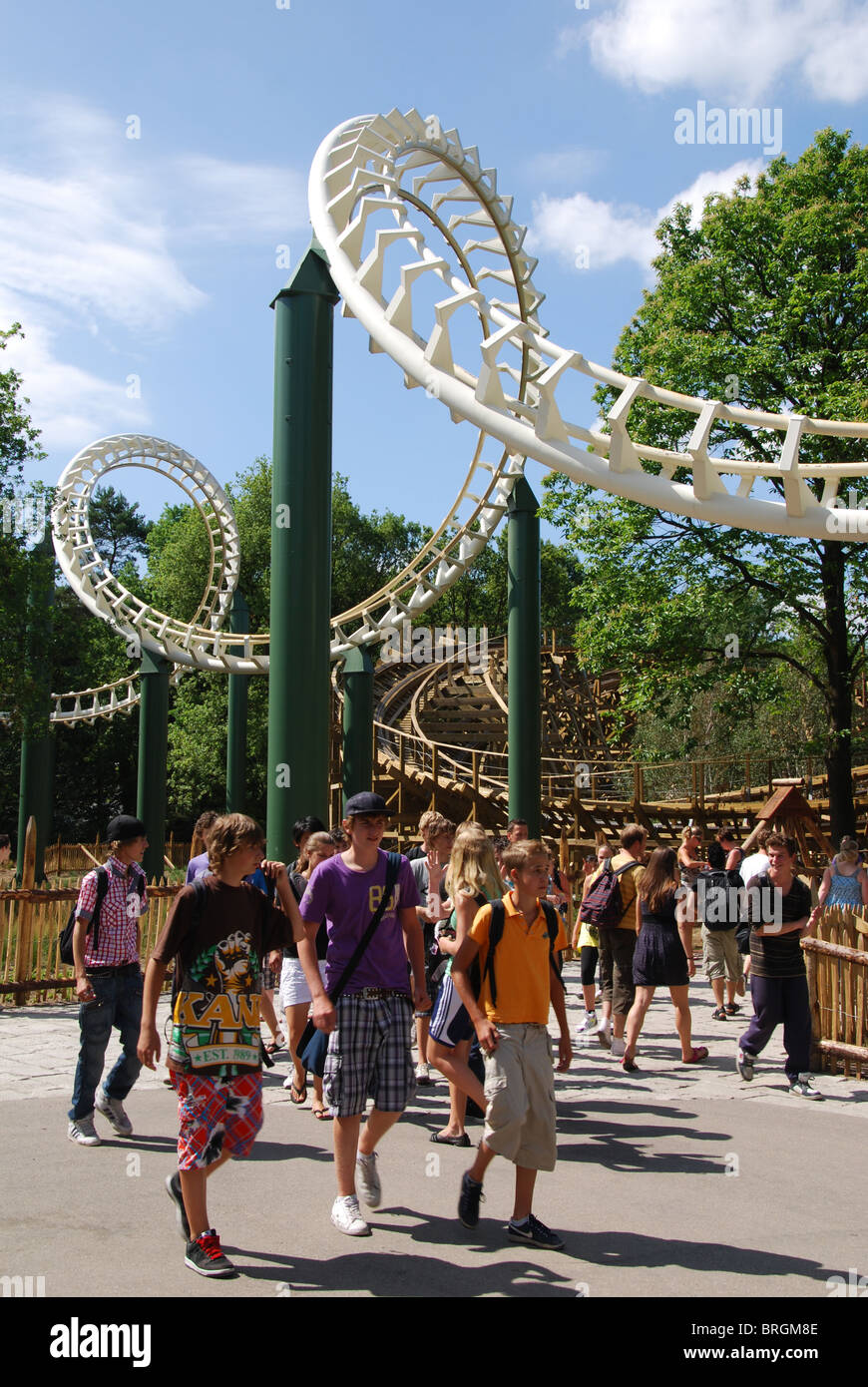 Teens at theme park stock photos teens at theme park for Amusement park netherlands