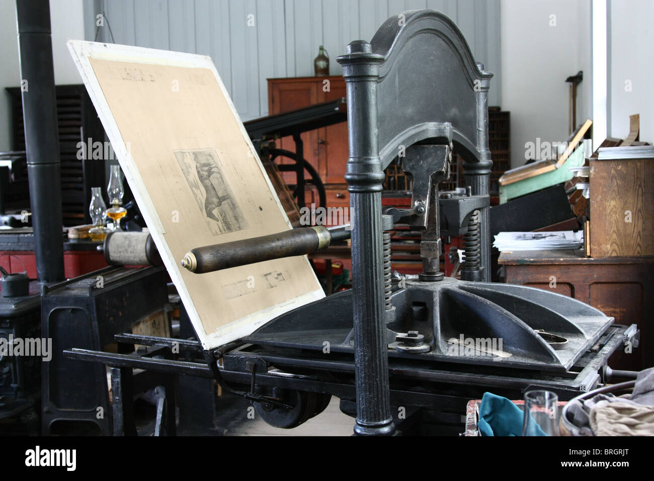 vintage printing press machine stock photo 31717248 alamy