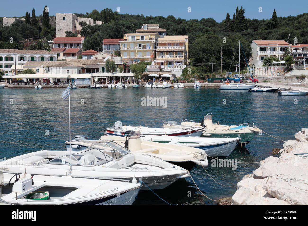 Kassiopi Corfu Greece - Stock Image