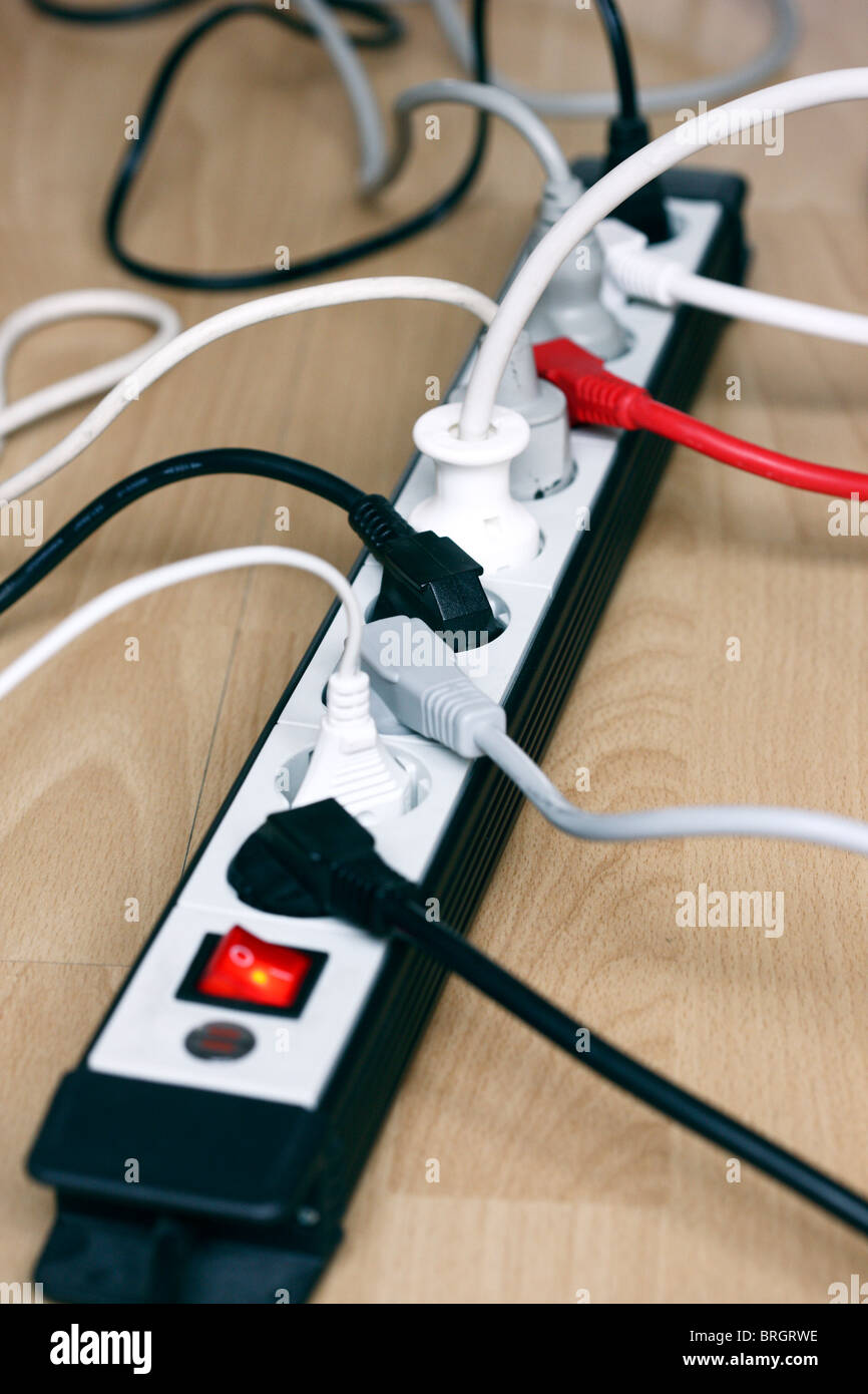 Home Electrics Multi Socket Power Lines Plug Board Plugs And Electrical Wiring Sockets Connection Of