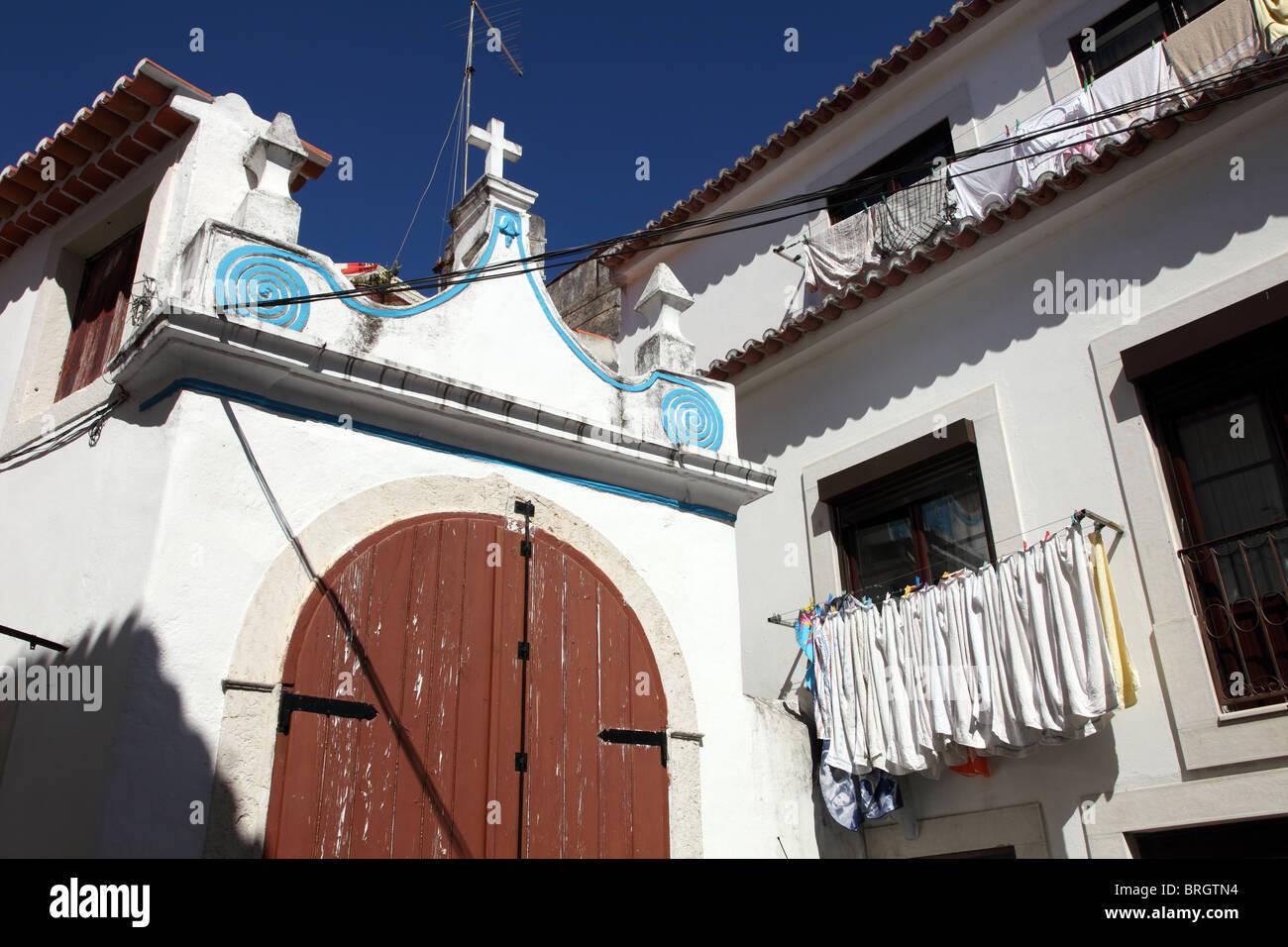Torres Vedras washing line - Stock Image