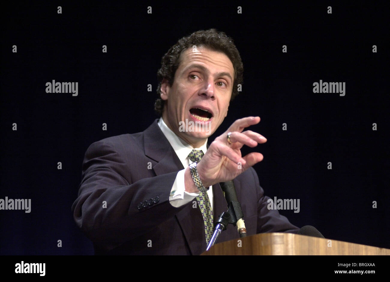 Andrew M. Cuomo, the Secretary of Housing and Urban Development speaks in Washington DC. Stock Photo