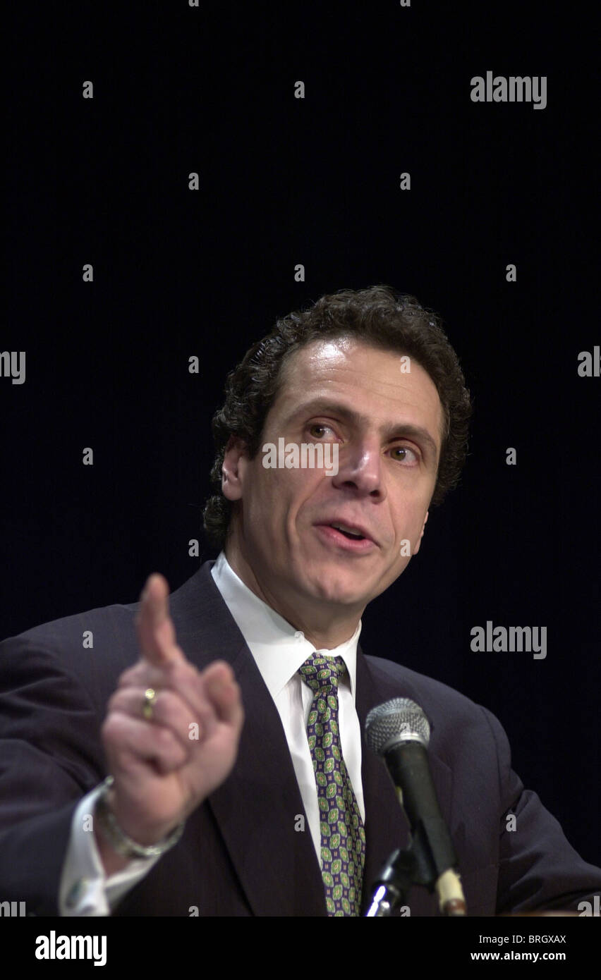 Andrew M. Cuomo, the Secretary of Housing and Urban Development speaks in Washington DC. - Stock Image