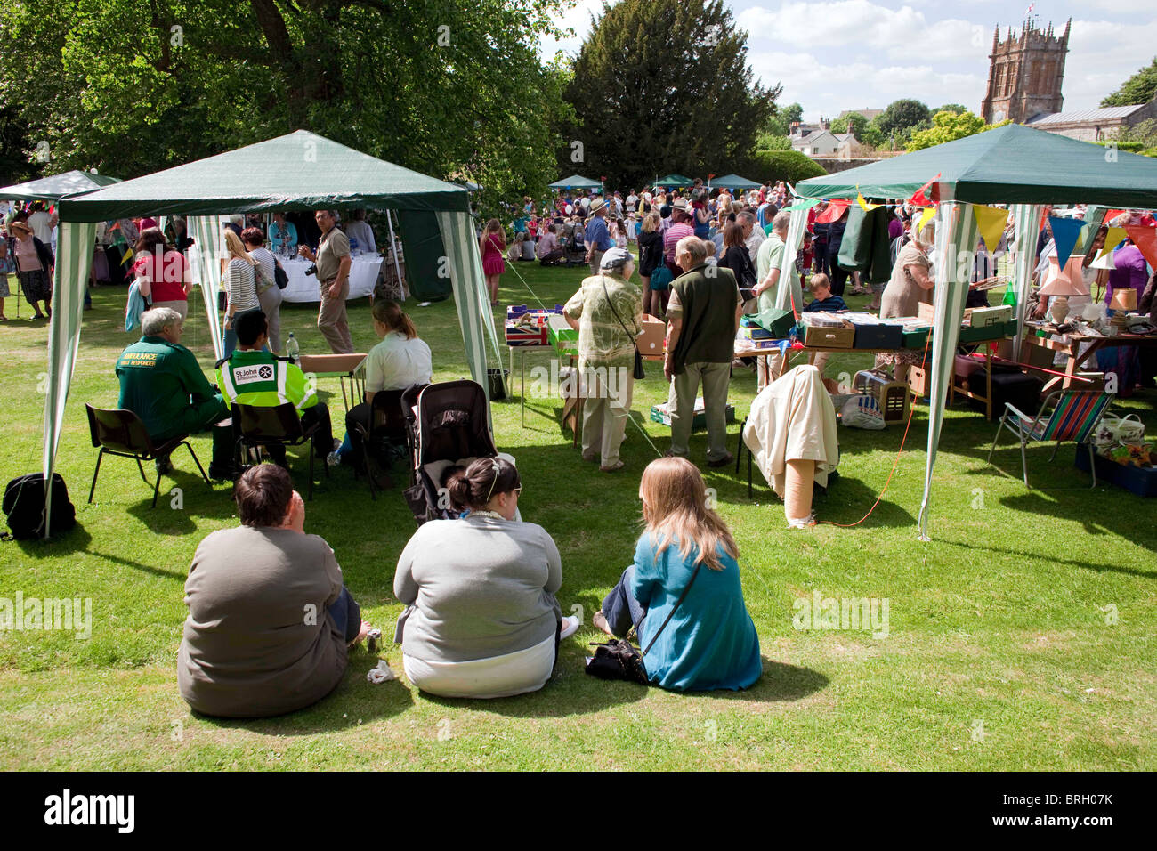 The annual summer Charminster Fete, in the village of Charminster, near Dorchester, Dorset.  DAVID MANSELL - Stock Image