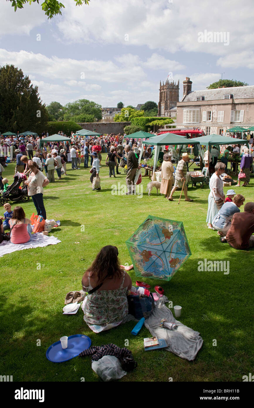 The annual summer Charminster Fete, in the Dorset village of Charminster, near Dorchester. DAVID MANSELL - Stock Image