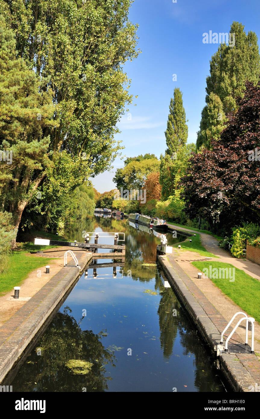 Grand Union canal at Uxbridge ,England - Stock Image