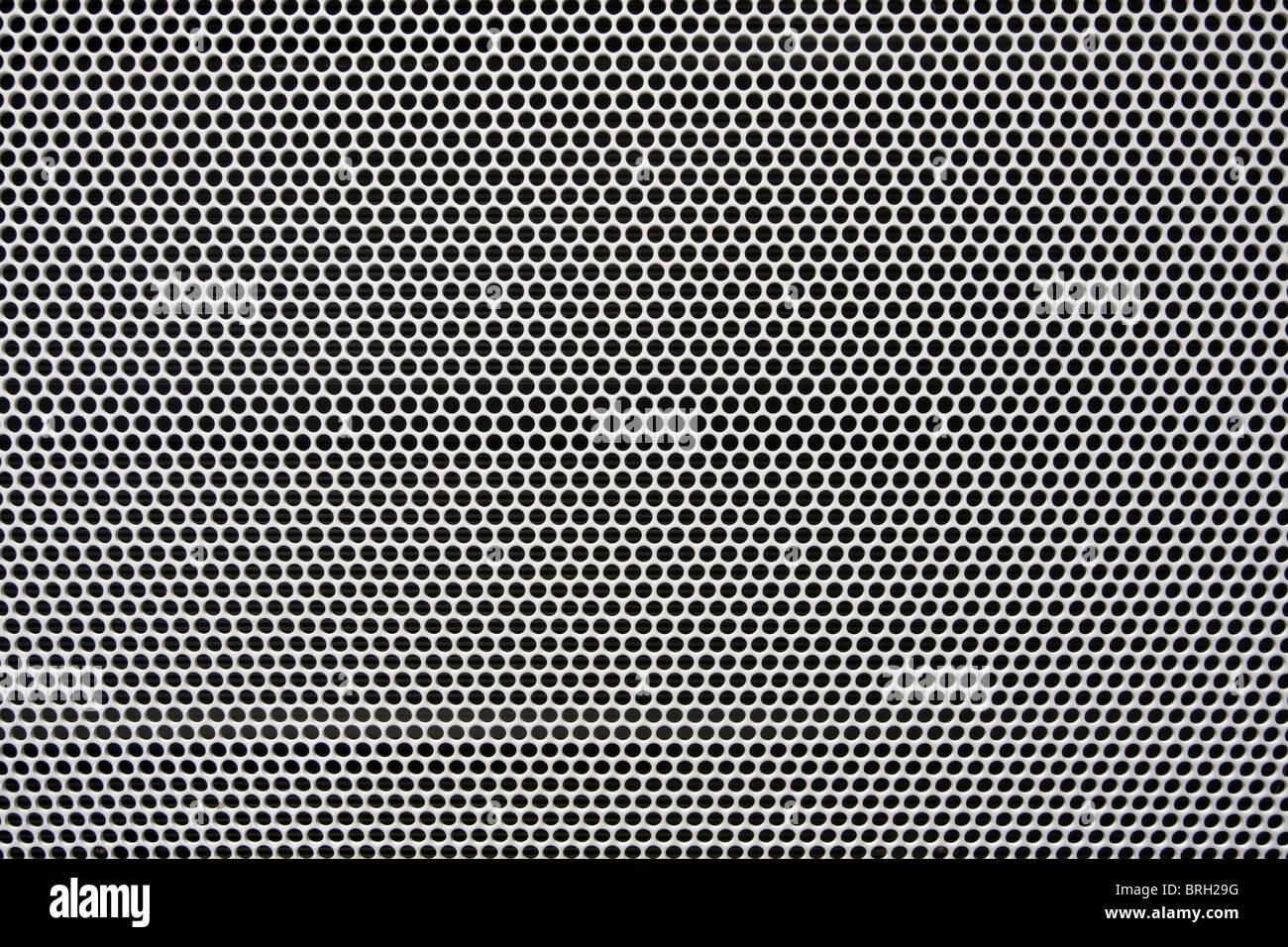 white painted radiator metal grid background - Stock Image