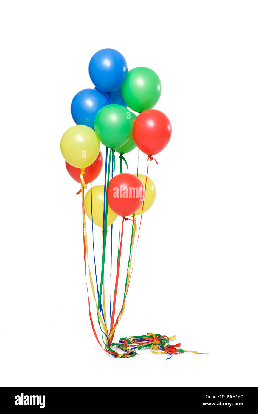Bunch of helium balloons - Stock Image