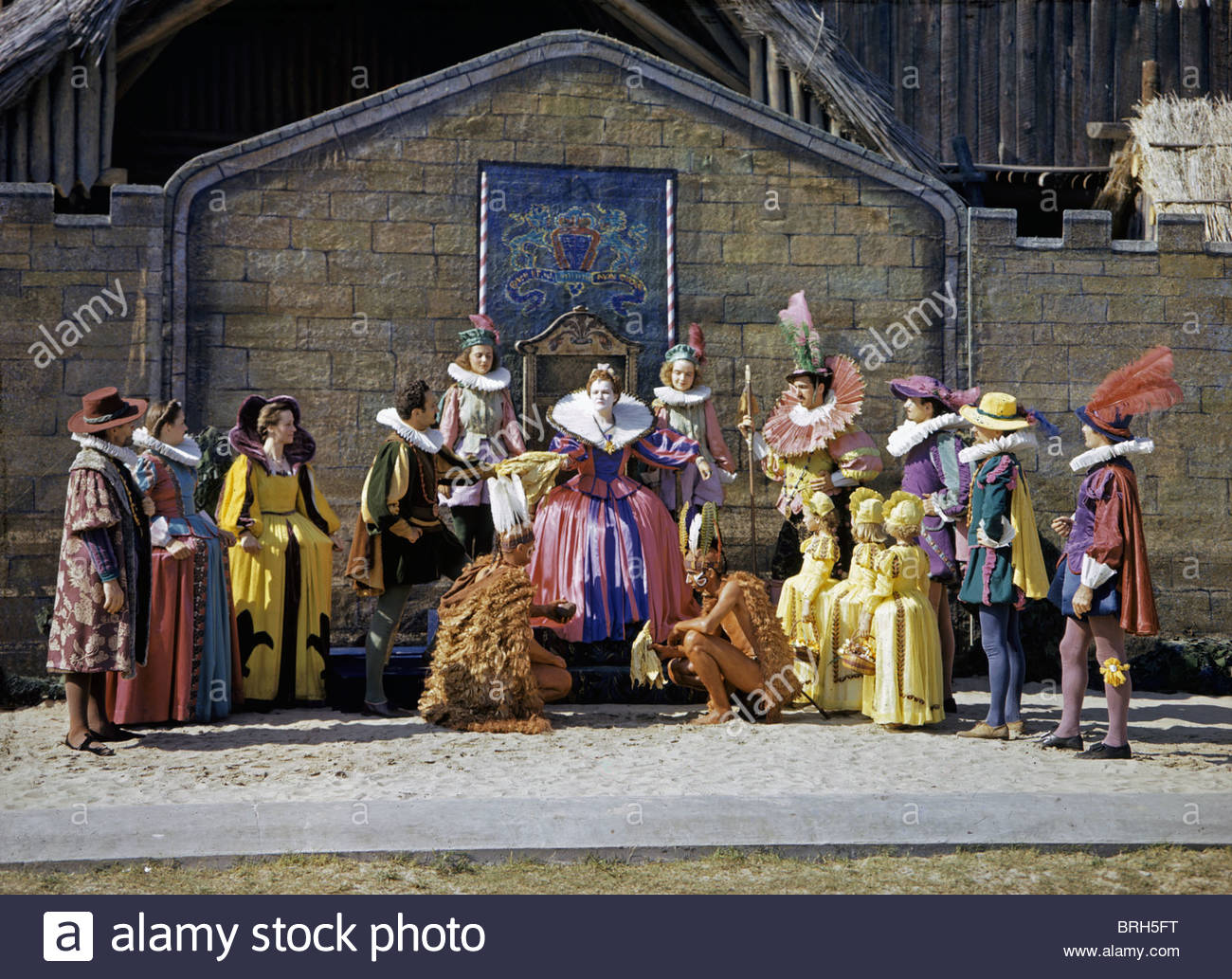 Inhabitants of Roanoke Island stage an annual play, The Lost Colony. - Stock Image