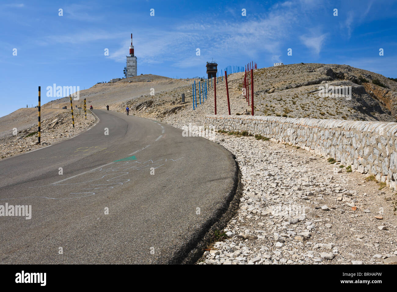 The summit of Mont Ventoux, Bédoin, France - Stock Image