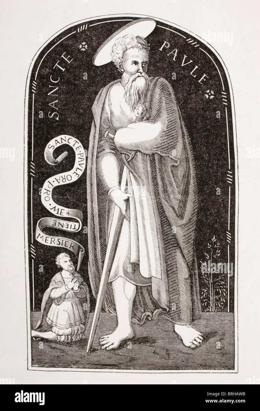 Saint Paul. Paul of Tarsus. Paul the Apostle. - Stock Image