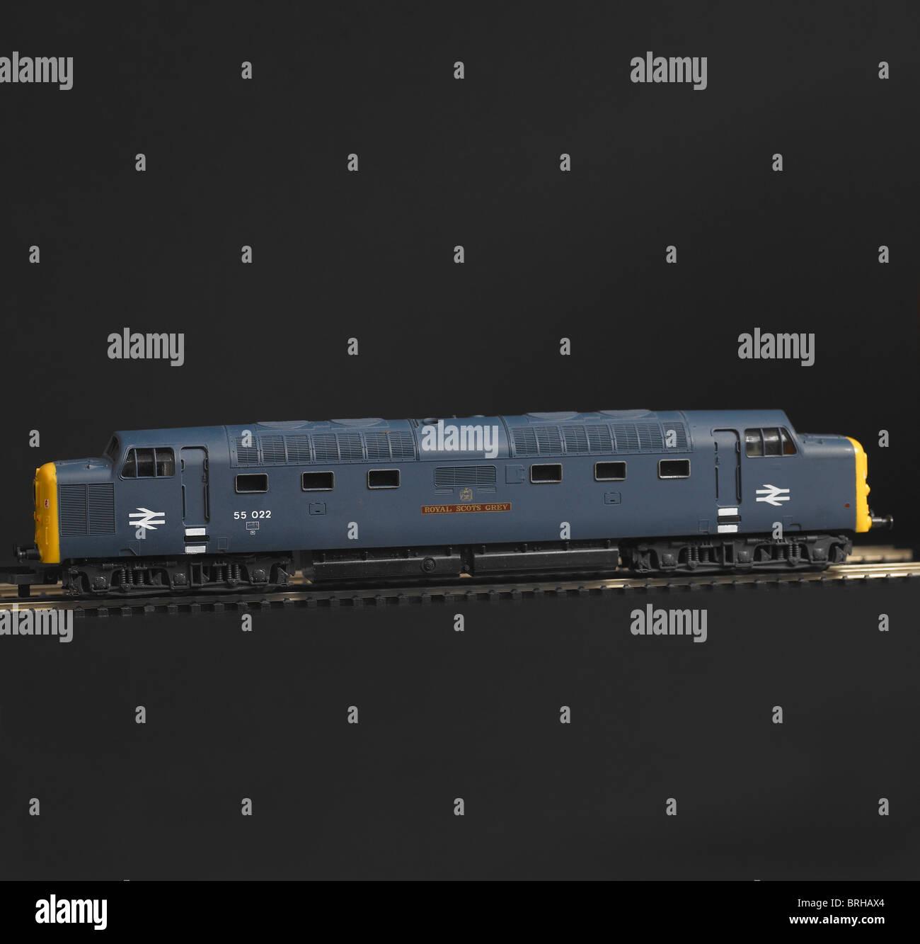 Class 55 Diesel Locomotive, BR Blue Stock Photo