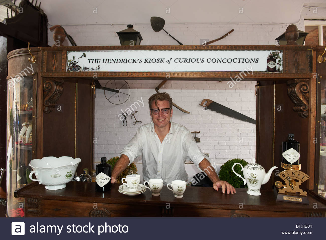 Hendrick's Gin Bar at The Woodstock Literary Festival 2010 - Stock Image