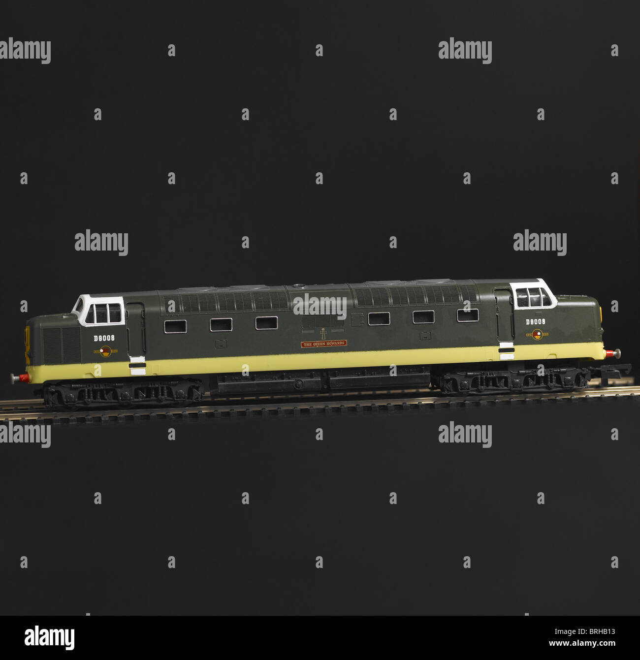 Class 55 Diesel Locomotive, BR Two Tone Green - Stock Image