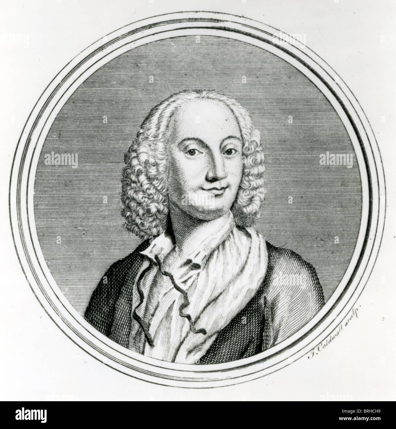 ANTONIO VIVALDI (1678-1741) Italian Baroque composer - Stock Image