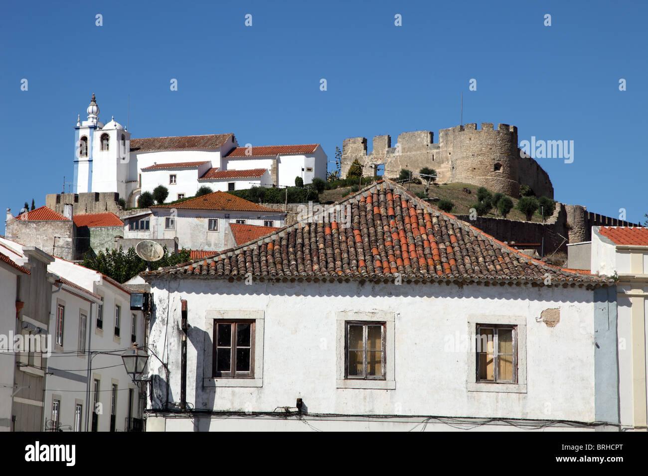 Torres Vedras Castle, medieval village, Portugal - Stock Image