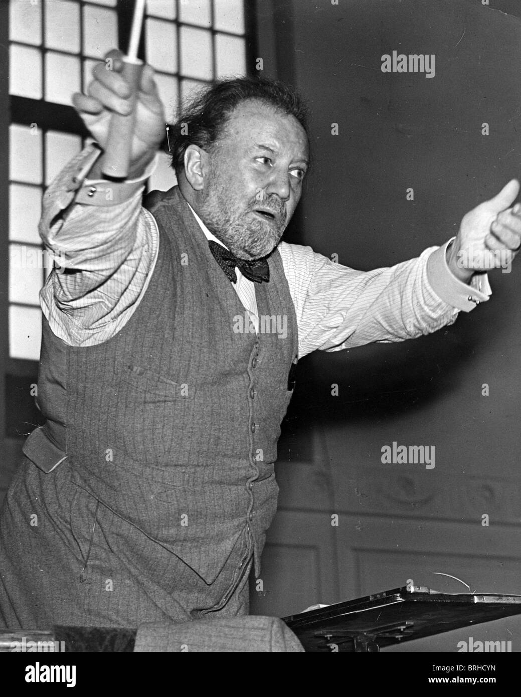 SIR HENRY JOSEPH WOOD (1869-1944) English conductor in 1940 - Stock Image
