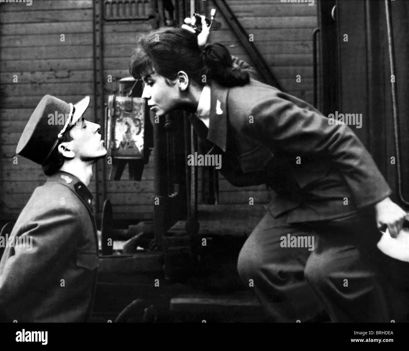 VACLAV NECKAR, JITKA SCOFFIN, CLOSELY OBSERVED TRAINS, 1966 - Stock Image