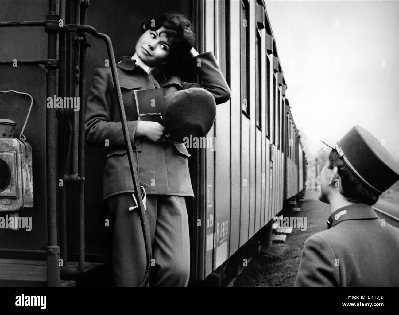 JITKA SCOFFIN, VACLAV NECKAR, CLOSELY OBSERVED TRAINS, 1966 - Stock Image