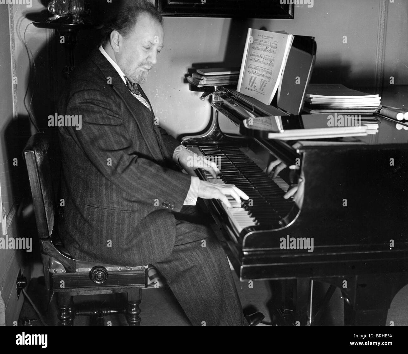 SIR HENRY WOOD (1869-1944) UK conductor in 1940 - Stock Image