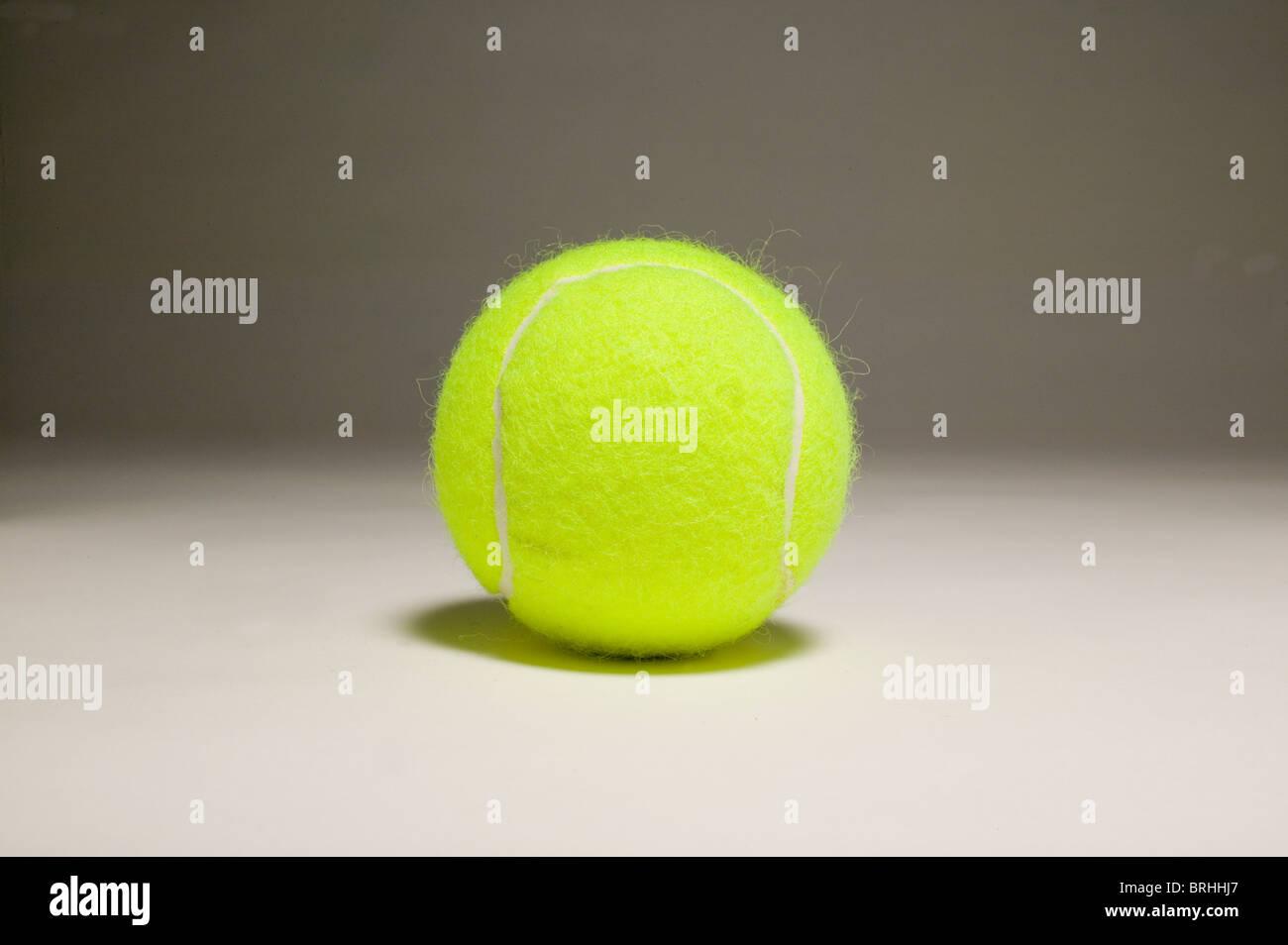 close up still life of tennis ball. - Stock Image