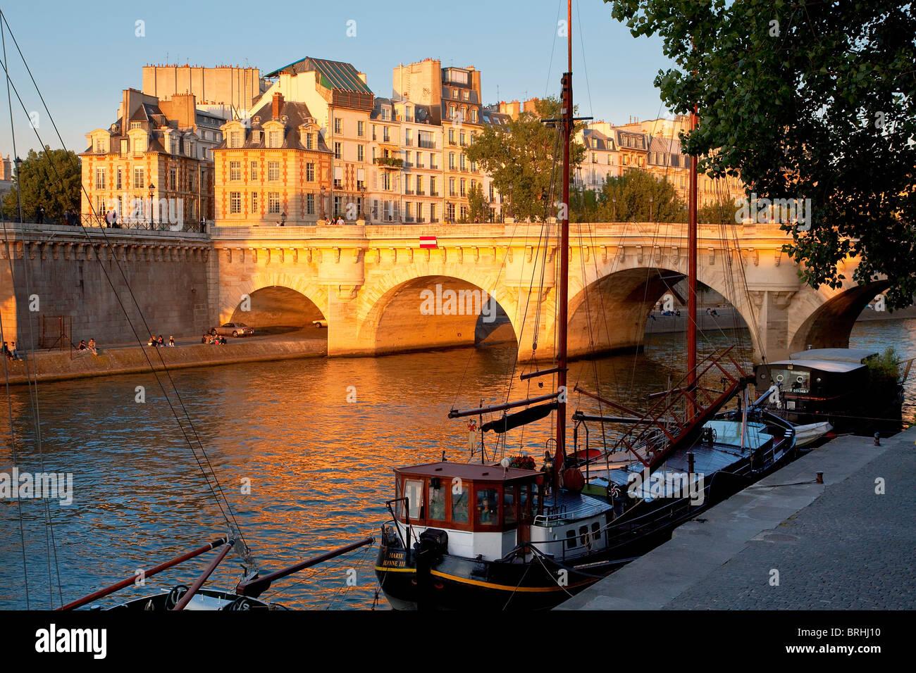 Europe, France, Paris, Le pont Neuf - Stock Image