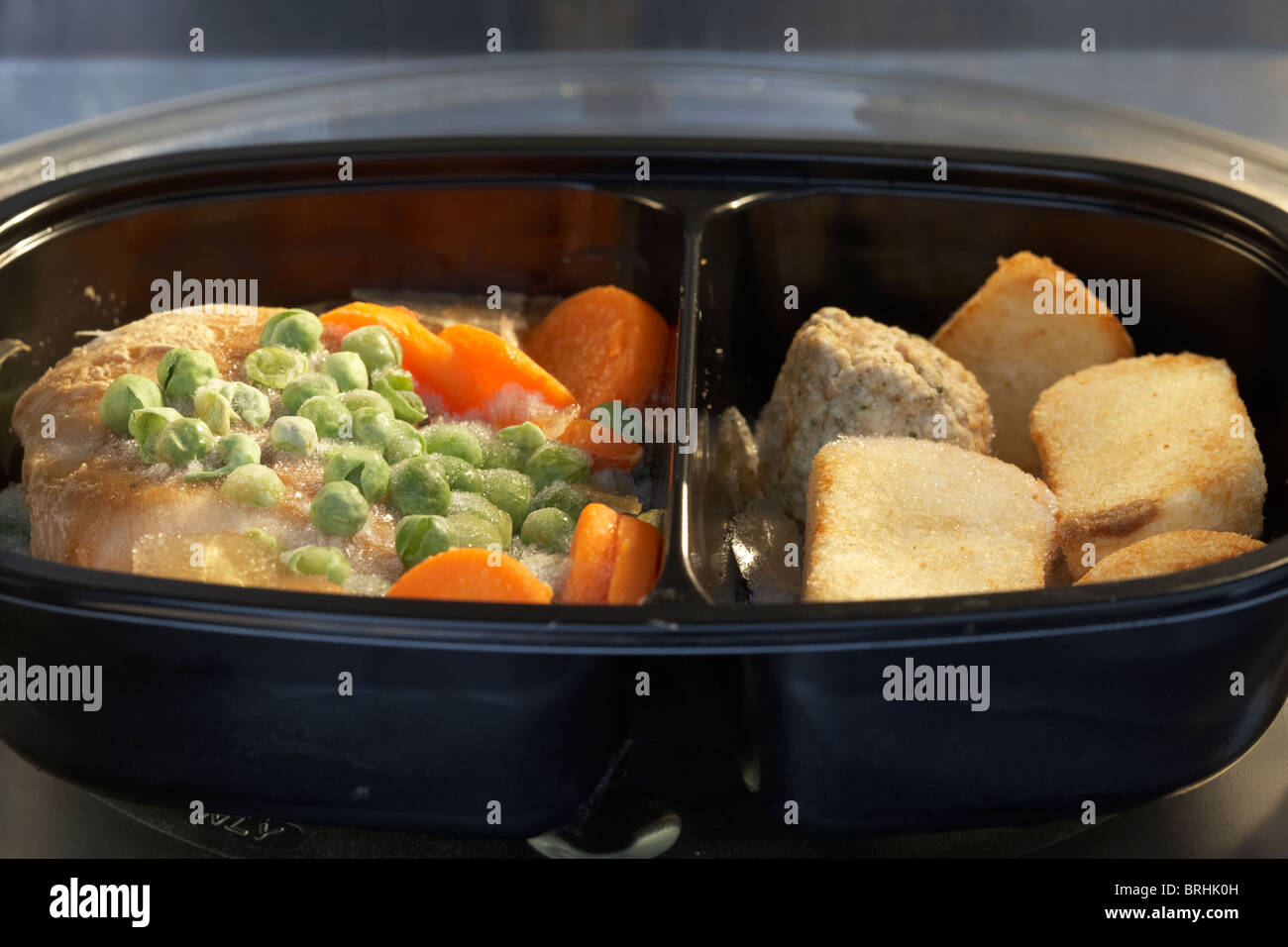 Frozen Microwave Chicken Dinner Meal For One In A