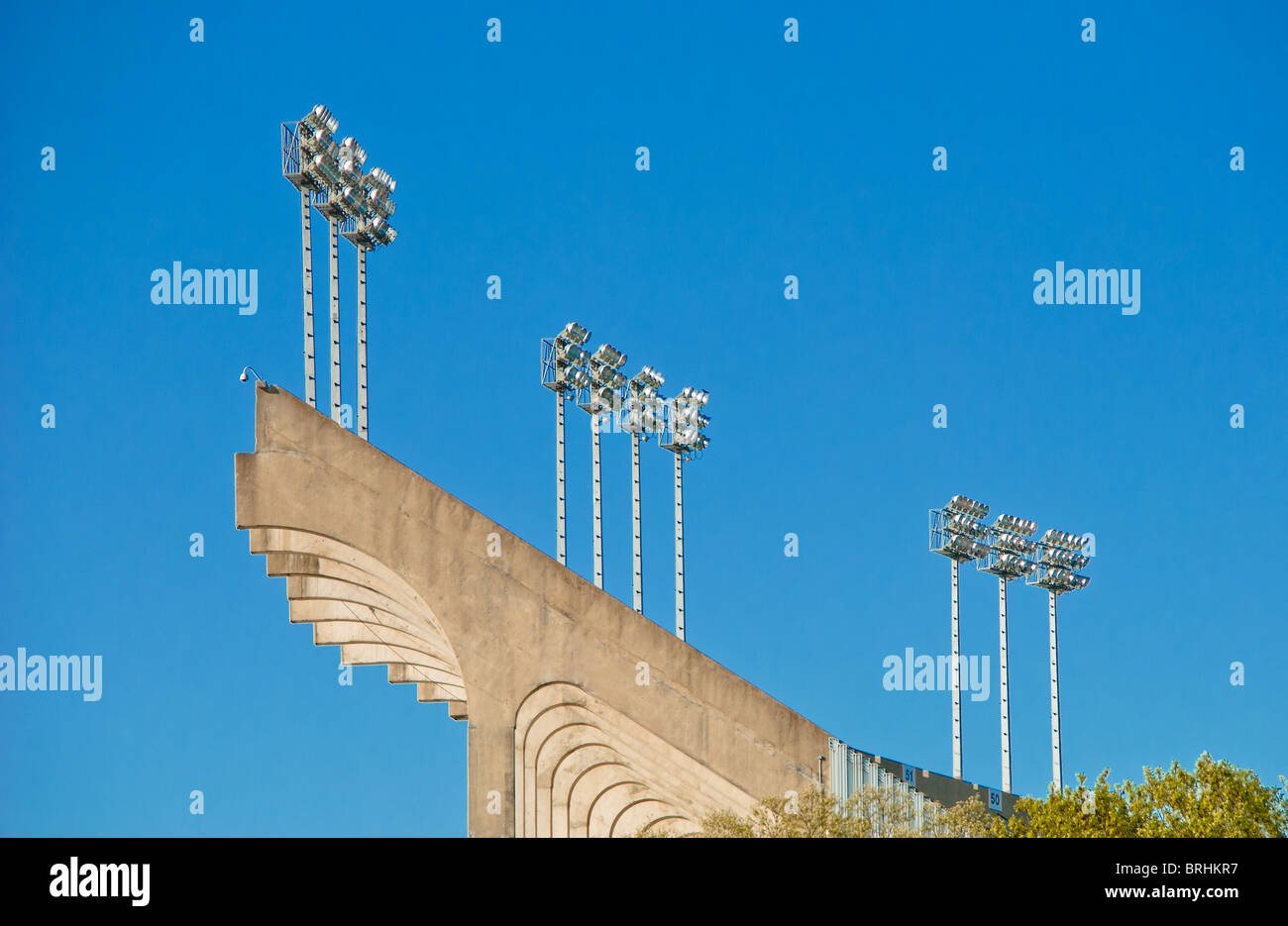 Football stadium at Auburn University in Auburn, Alabama, USA - Stock Image