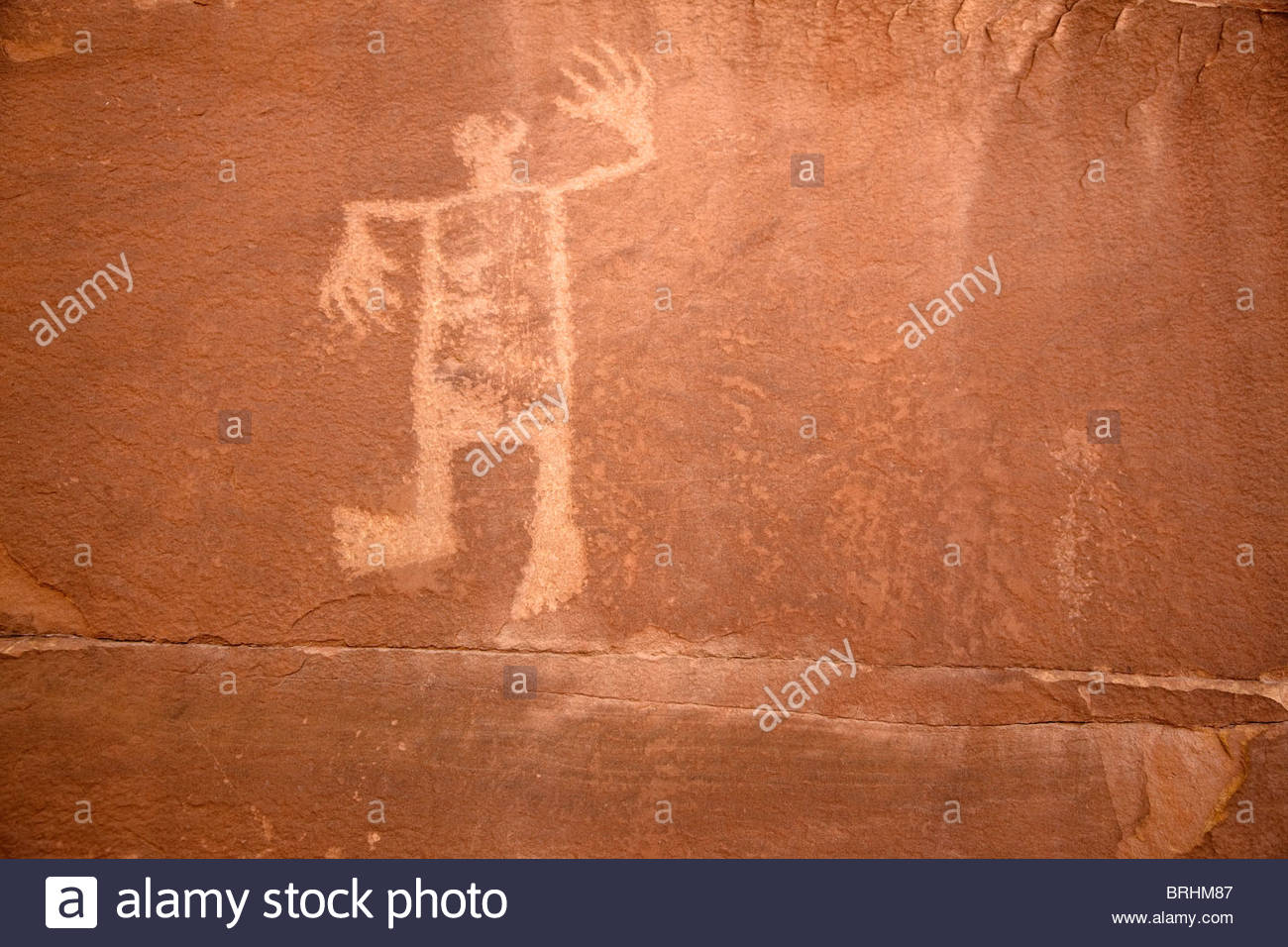 Wolfman Site: a motif 18' tall with a rectangular body and big feet. - Stock Image
