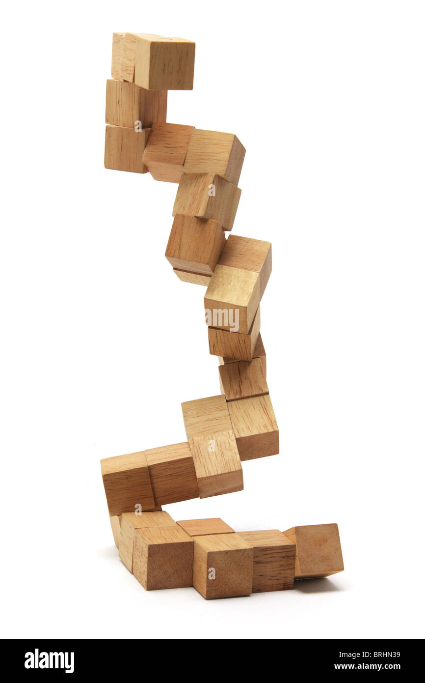 3D Wooden Puzzle - Stock Image