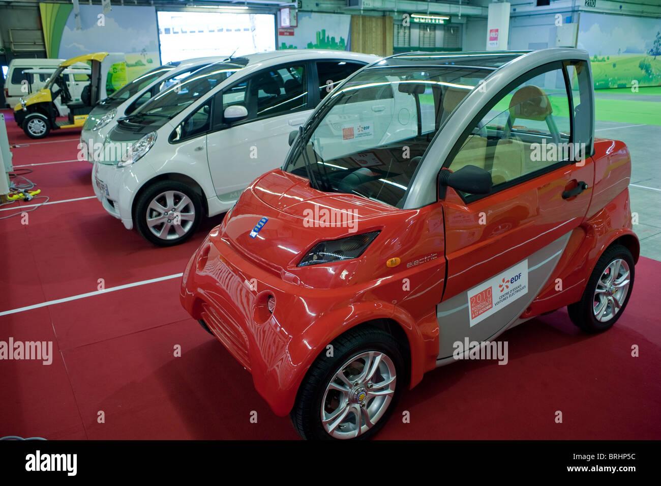 Paris France Paris Car Show Electric Car Mini Cars Cars Without