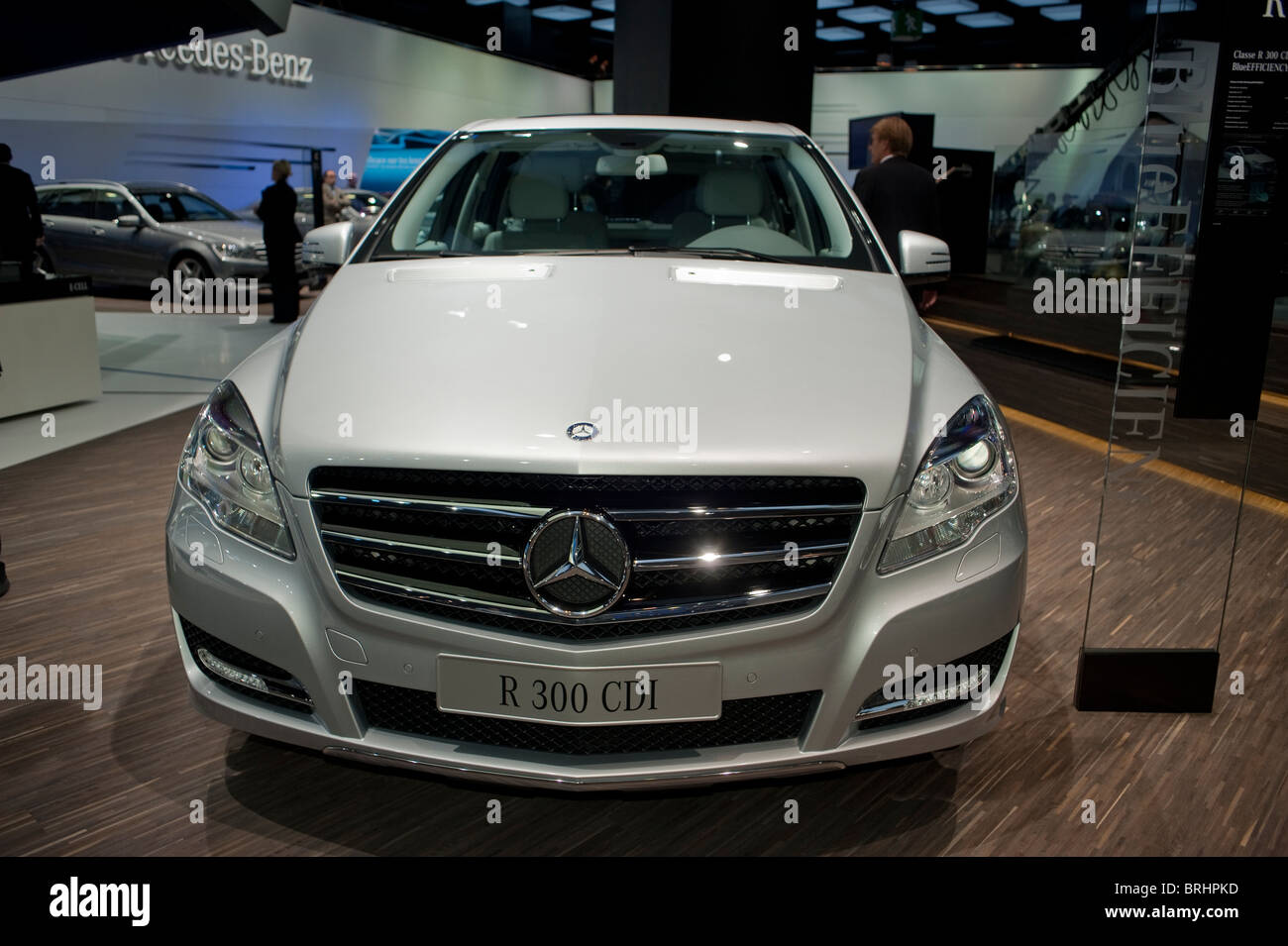 Paris, France, Paris Car Show, Mercedes Benz, R 300 CDI, Stock Photo