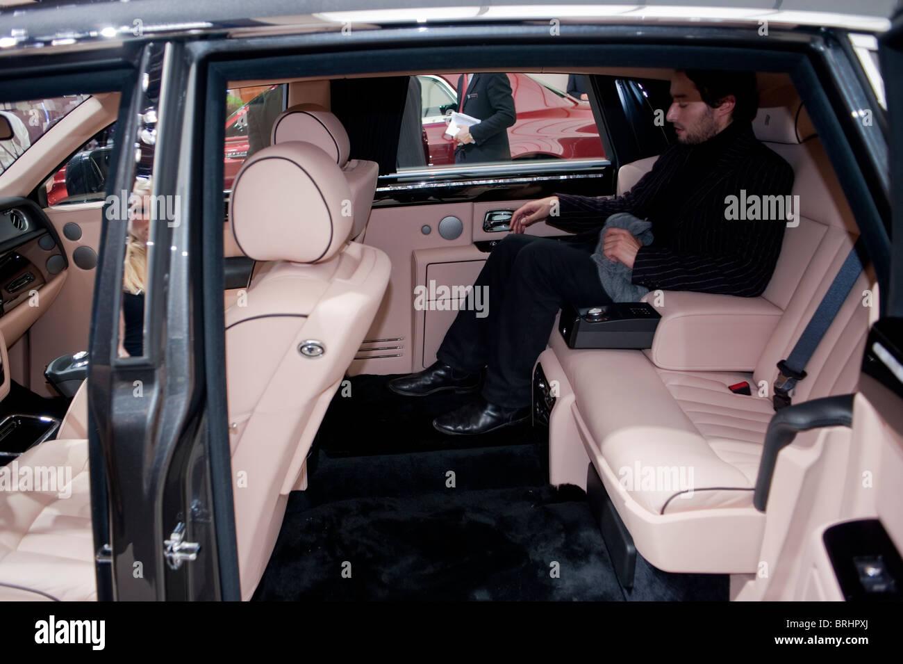 Paris, France, Paris Car Show, Rolls Royce, 350,000 € Luxury Sedan, Phantom Stock Photo
