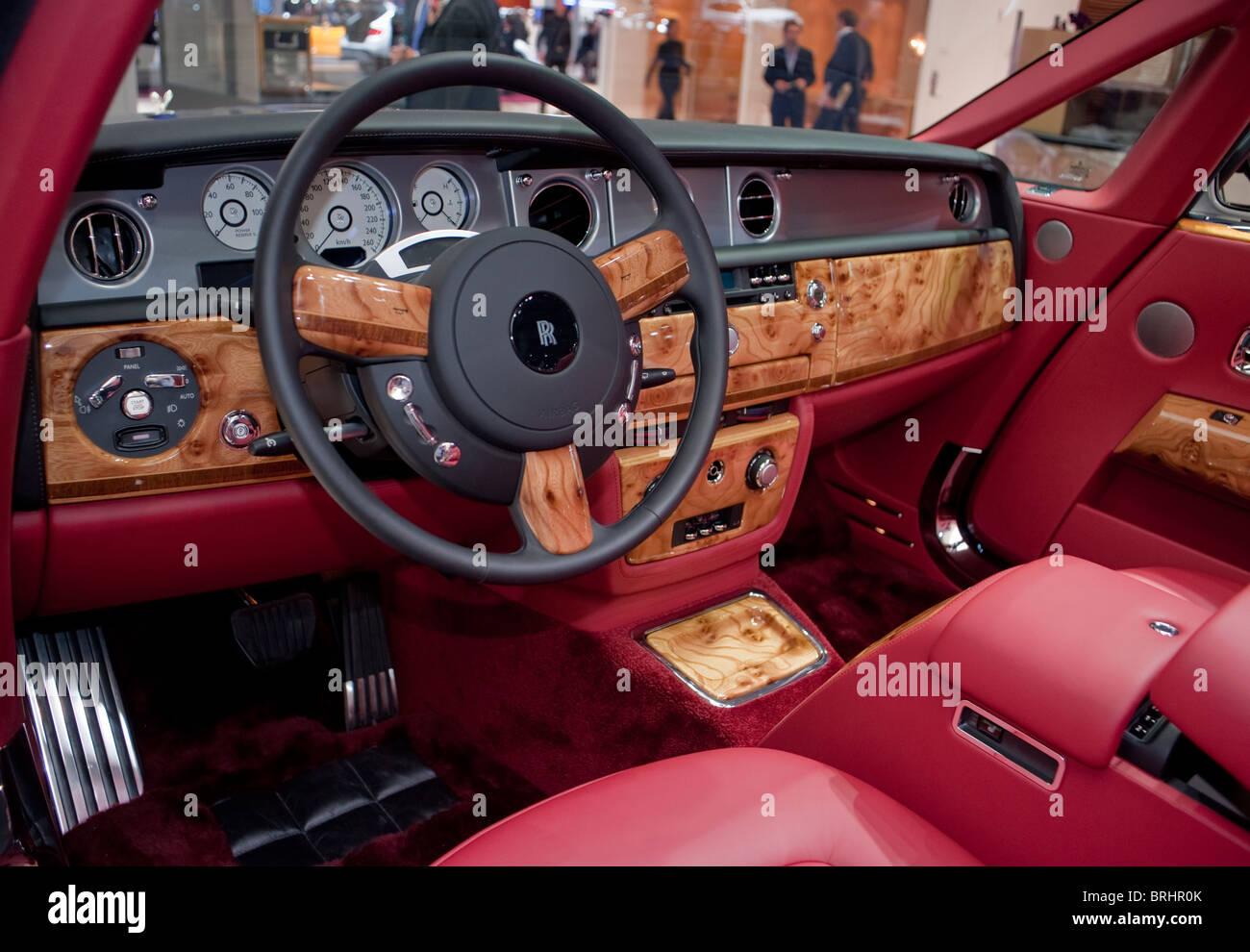 Paris, France, Paris Car Show, Rolls Royce, Drop Head Convertible, 350,000 € Luxury Sedan Stock Photo