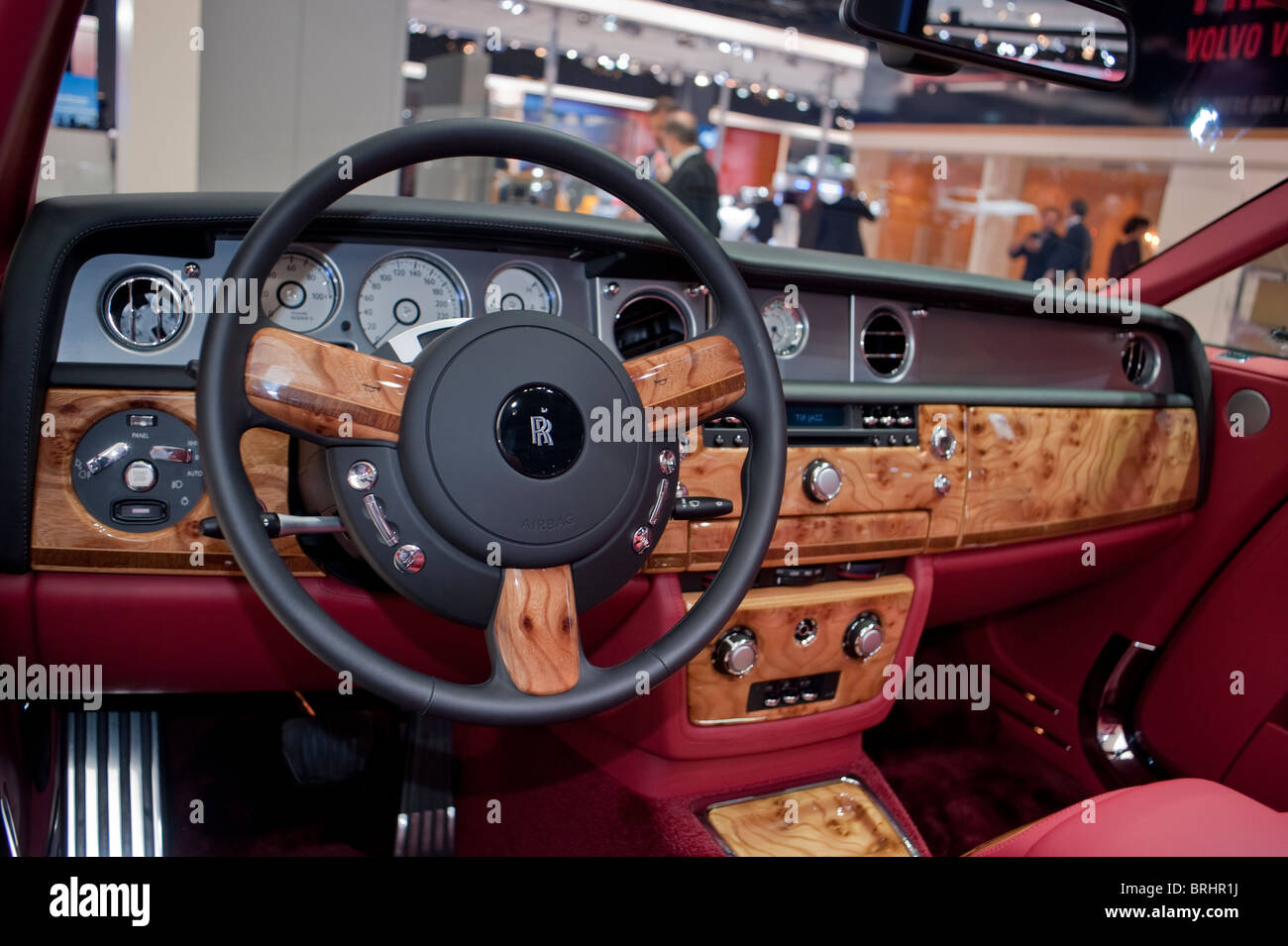 Paris, France, Paris Car Show, Rolls Royce, Drop Head Convertible, 350,000 € Luxury Sedan - Stock Image
