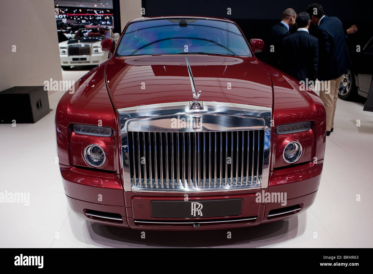 Paris, France, Paris Car Show, Rolls Royce, 350,000 € Luxury Sedan, Phantom Stock Photo