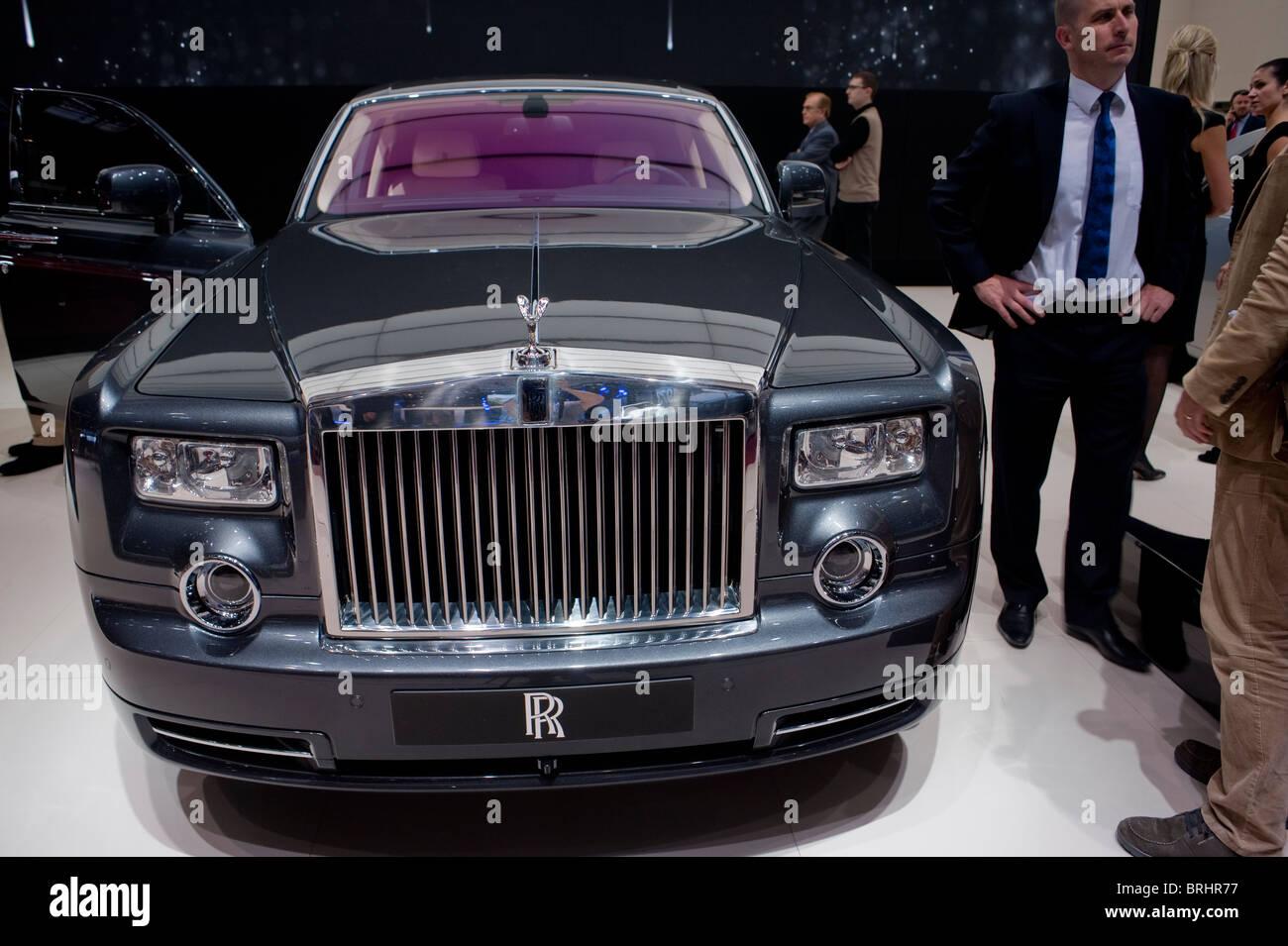 Paris, France, Paris Car Show, Rolls Royce, (350,000 €) Luxury Sedan, Phantom Stock Photo