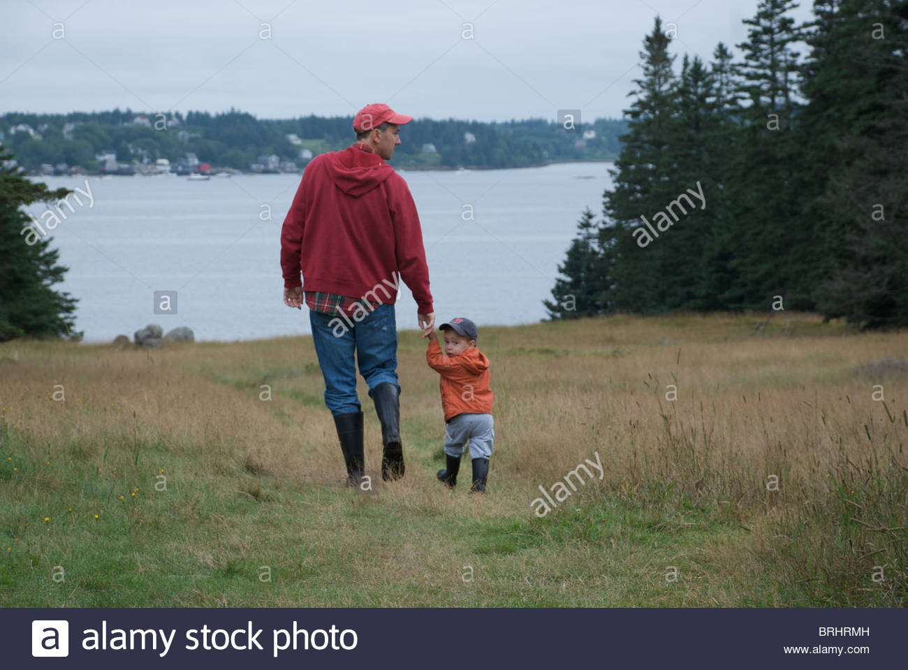 Family Time at Harbor Island. - Stock Image