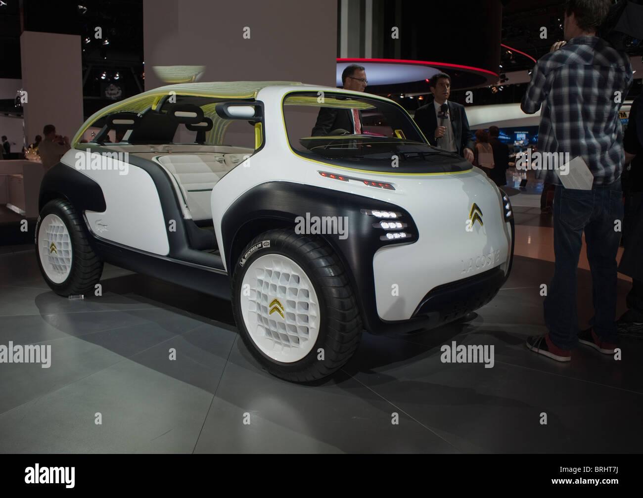 Paris, France, Paris Car Show, Citroen Lacoste Electric Car, Concept Cars - Stock Image
