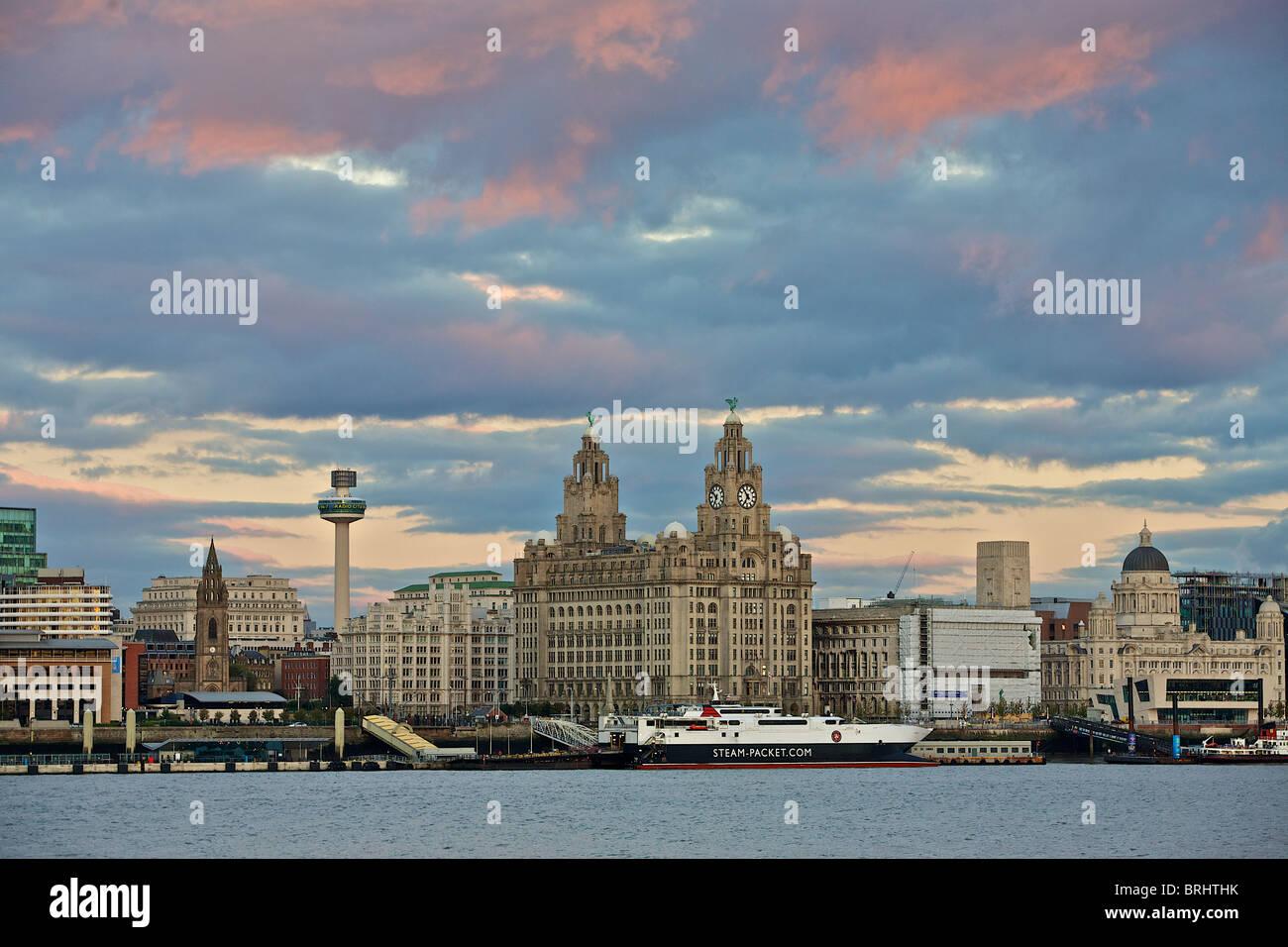 view of liverpool skyline - Stock Image