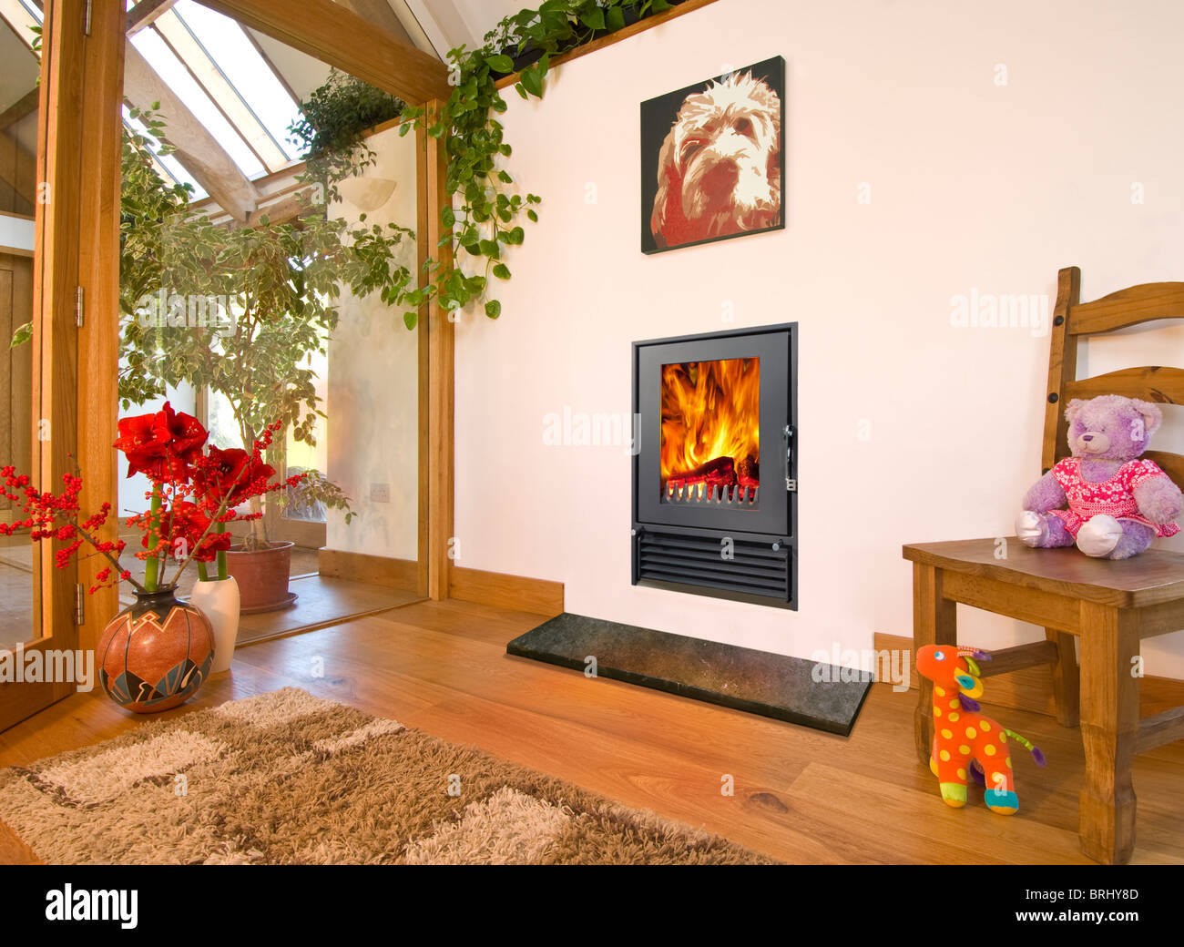 A Woodfire 12i Insert Wood Burning Stove In Tasteful Modern