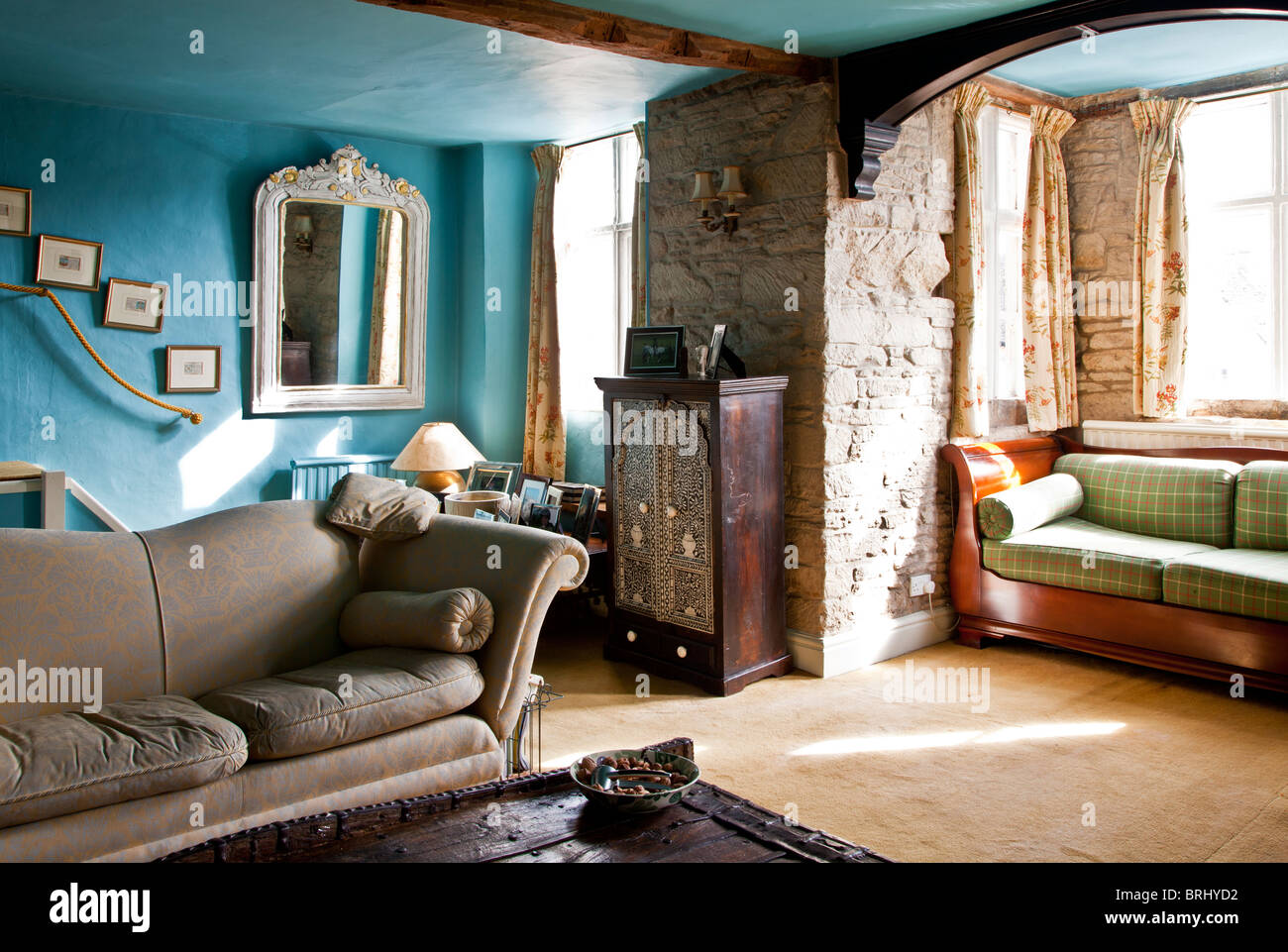 The Drawing Room In An Old English Country House