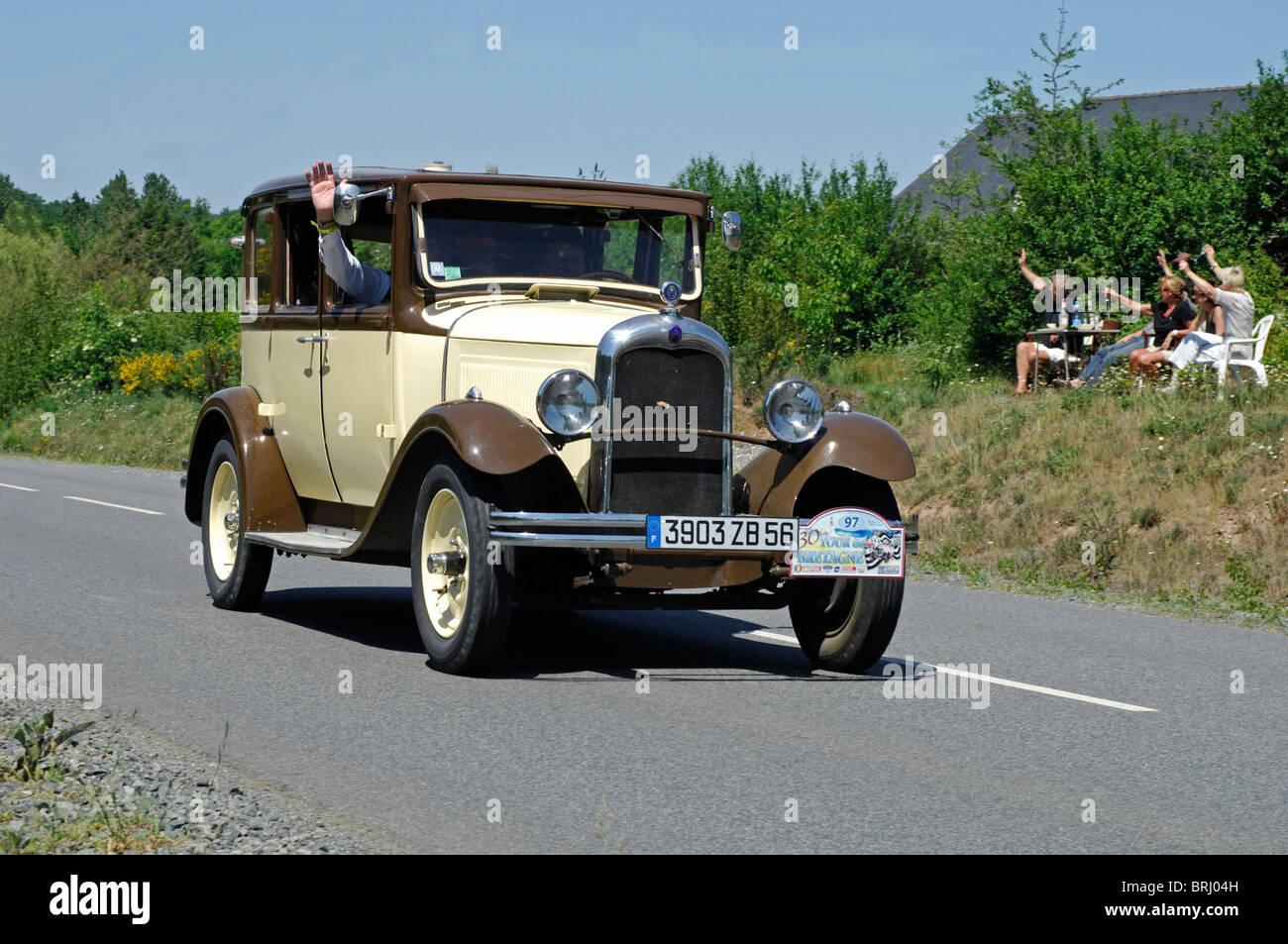 Citroen C4, 1931, in the Tour de Bretagne Classic car rally 2010 ...