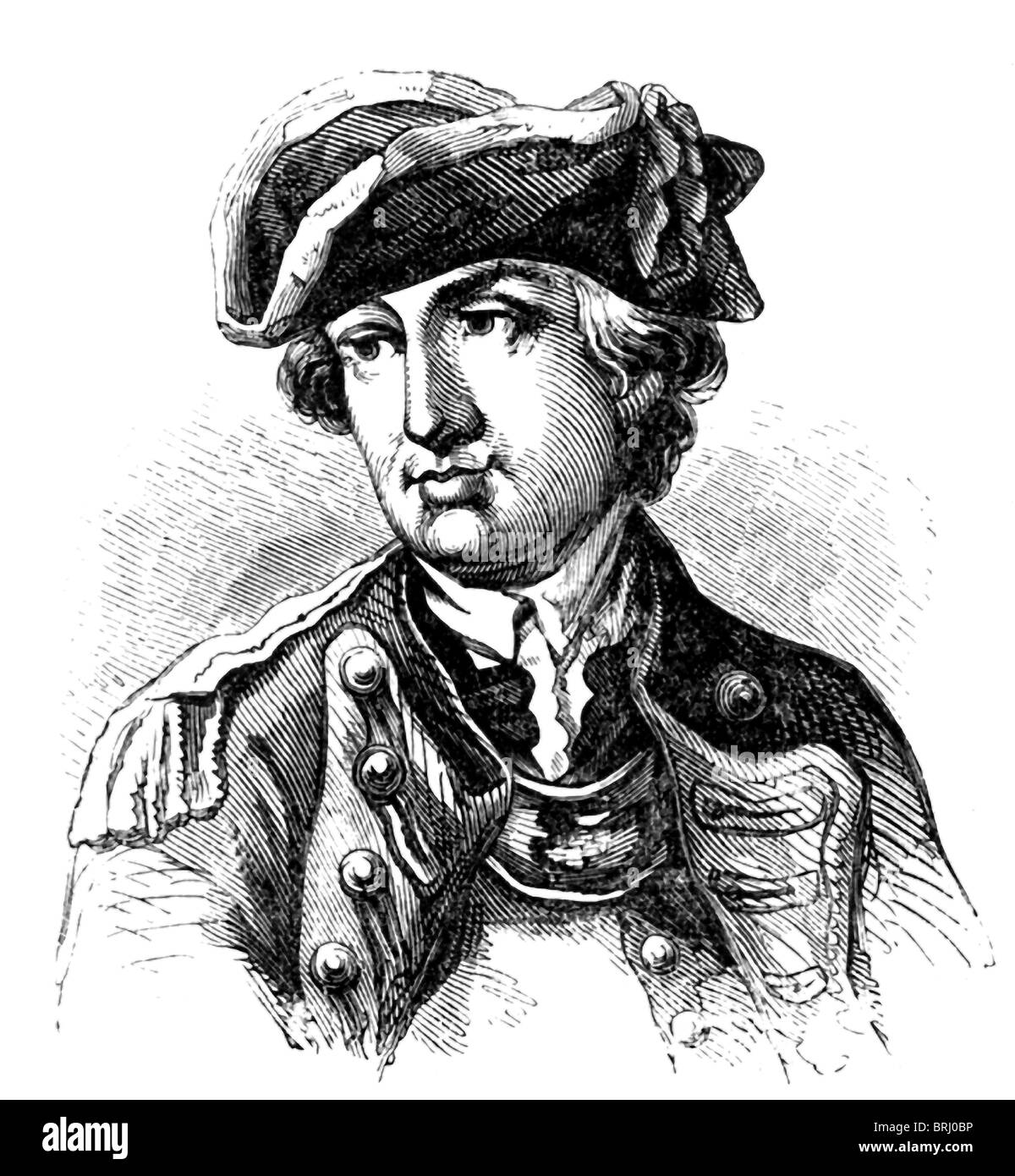 American Revolutionary general Charles lee (1731–1782) was born in England. He settled in Virginia in 1773. Stock Photo